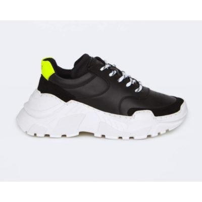 Läst_Sneakers_Sort_Neon_Gul