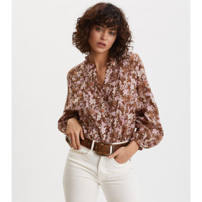 Odd_Molly_Bluse_Brun_Print_Blomster