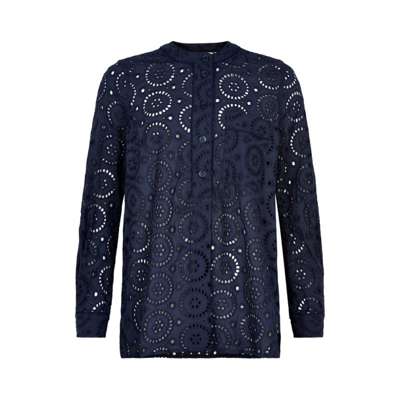 And_Less_Alace_Blouse_navy_Blonde