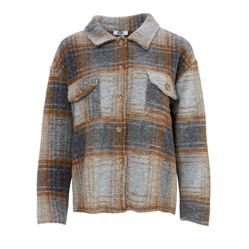 Tiffany jacket - brown - grey